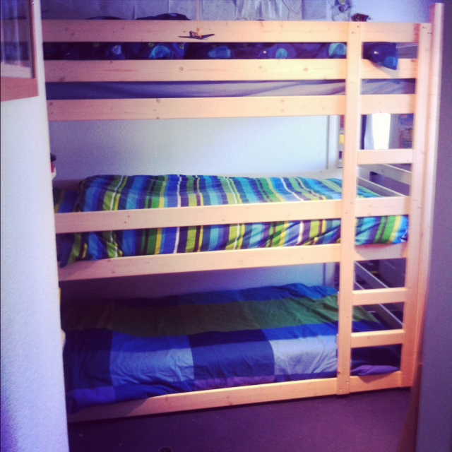 Beautiful Triple bunk beds of course