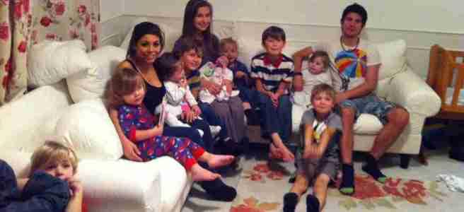 All twelve children - the Sullivan family