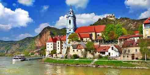 Durnstein near Vienna, lower Austria, pictoial Wachau valley