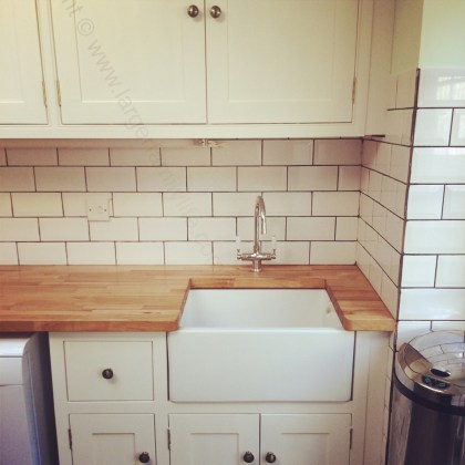 handmade kitchen sink area