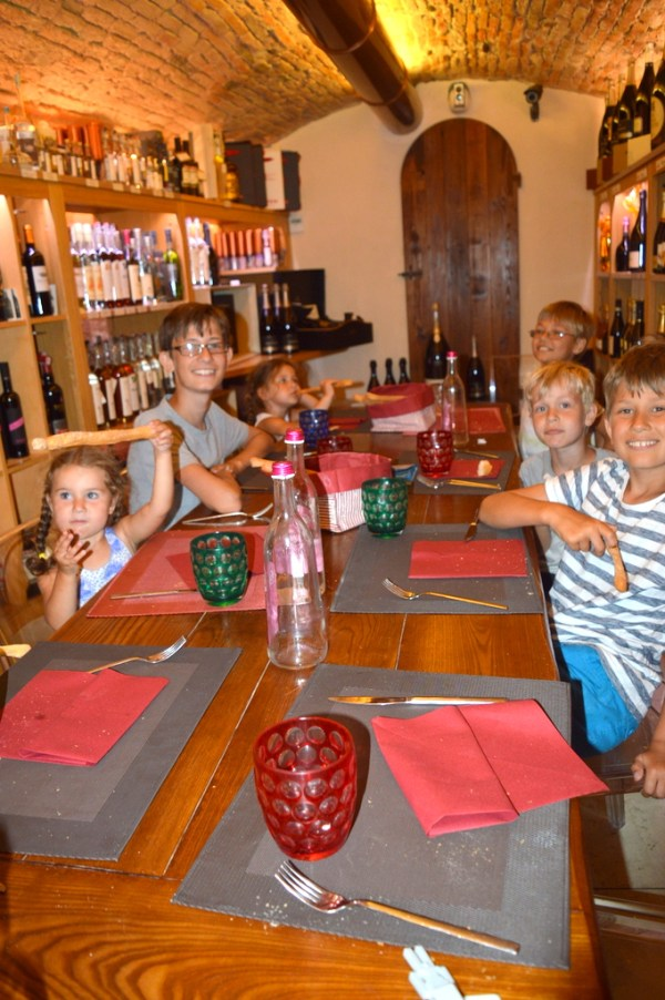 The children loved their dish of pasta with goose sauce