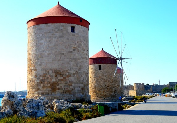 old windmills of Rhodes