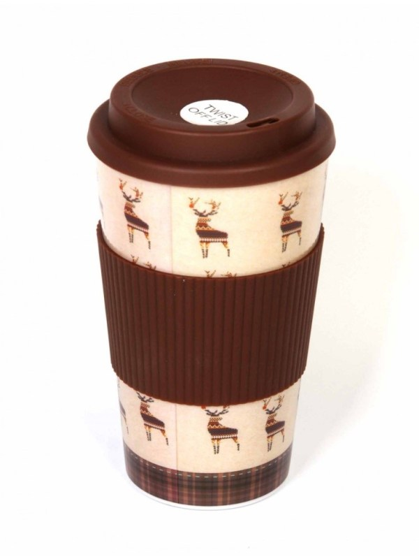 Fairisle Stag Travel Mug