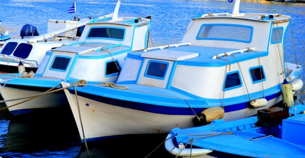 Symi small fishing boats