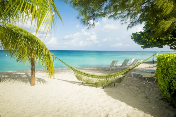 Hammock on a caribbean beach