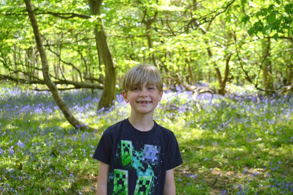 Ollie loved the 'delightful' bluebells