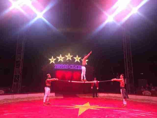 Zippos Circus Russian Bar acrobats