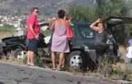 Καραμπόλα 3 αυτοκινήτων - 4 παιδιά ελαφρά τραυματίες ΦΩΤΟ