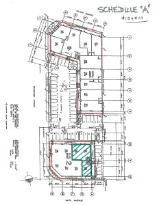 #112-#113 - location on site plan Schedule A