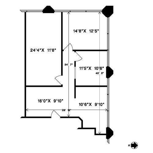 20641 Logan Avenue #207 (dimensions)