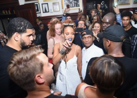 NEW YORK, NY - SEPTEMBER 10: Rihanna attends the Rihanna Party at The New York Edition on September 10, 2015 in New York City. (Photo by Michael Loccisano/Getty Images for EDITION) ORG XMIT: 575393717 ORIG FILE ID: 487688090