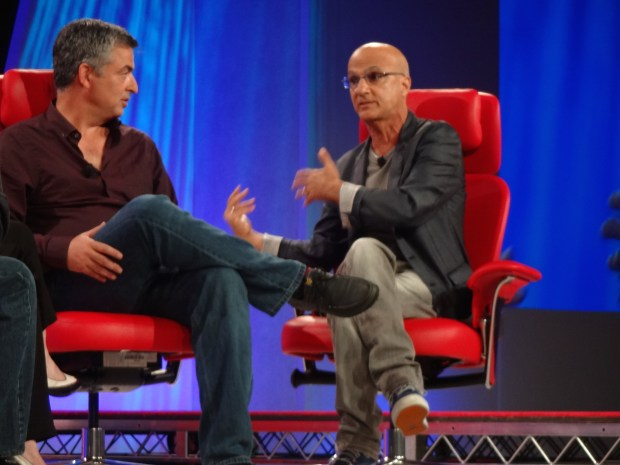Eddie Cue and Jimmy Iovine (photo: Larry Magid)