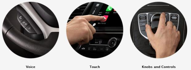 Apple's CarPlay lets you control your phone by voice, touch and car controls
