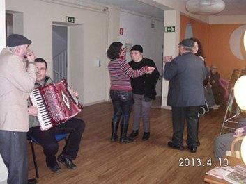 Dança ao som do acordeão