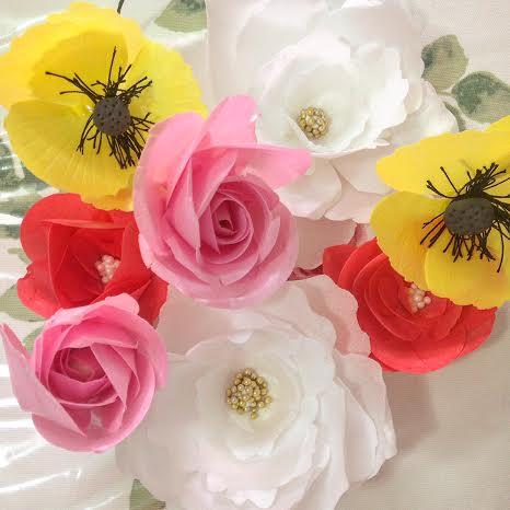 Foto-flores de papel-tutoria