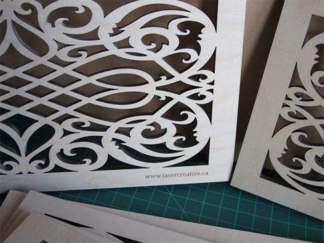 Custom laser cut wood grate covers