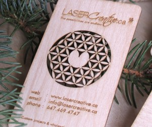 Laser Cut Wood Business Cards 2