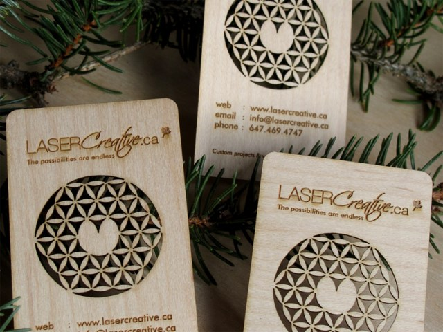 Laser Cut Wood Business Cards 3