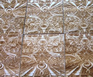 Laser cut and laser engraved wood print by Laura Boreal Isis 1