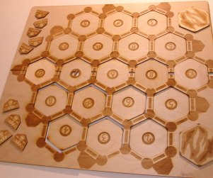 Settler of Catan custom laser cut wood game board 4