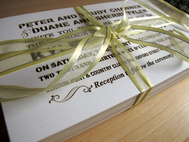 Image 1 of Custom Fontography design laser cut wedding invitations