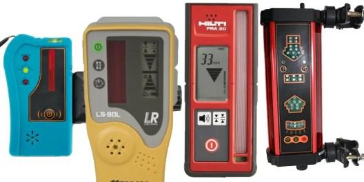Laser level receivers