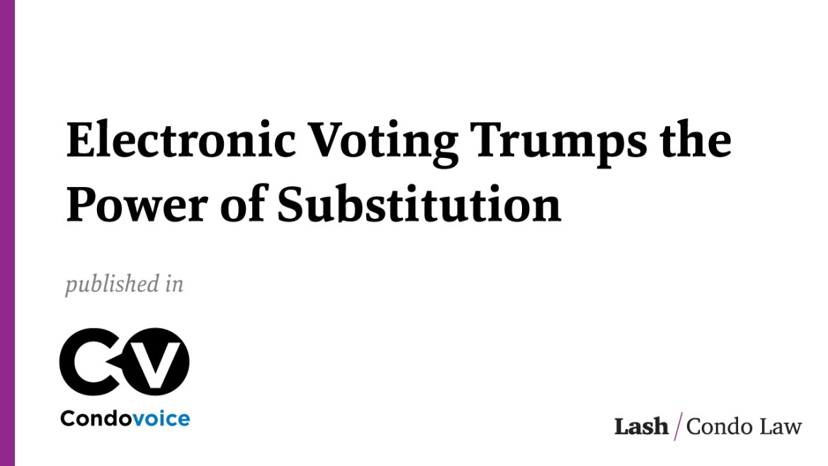 Electronic Voting Trumps the Power of Substitution