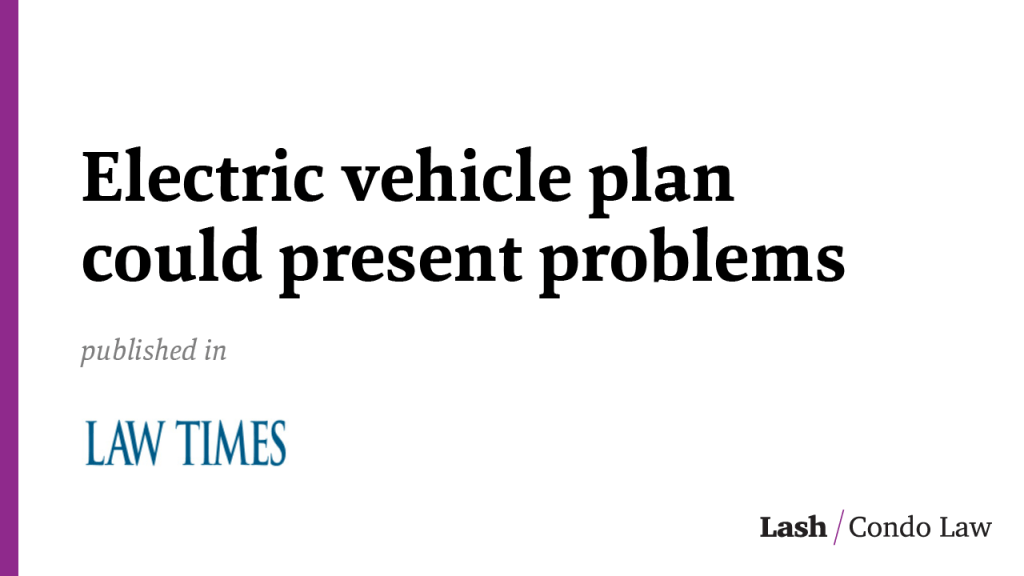 Electric vehicle plan could present problems