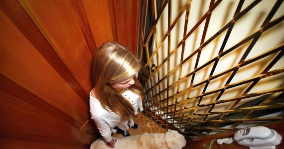 girl in elevator