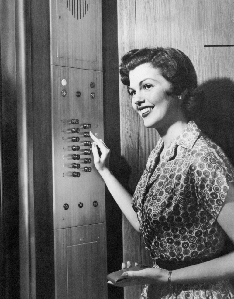 elevator woman 2