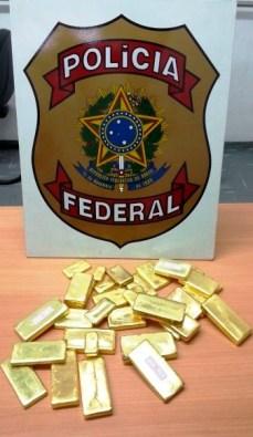 Oro ilegal incautado por la Policía Federal. Foto: amazoniareal.com.br