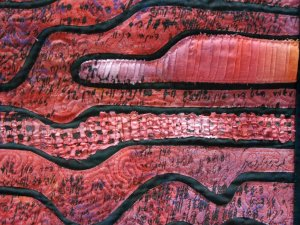 Ita Ziv – Red Letters 2 - Detail