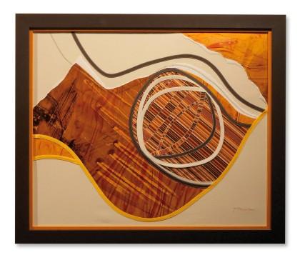 Brigitte Paumier - Rythme et obliques - 74x63