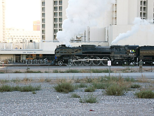 Union Pacific Steam Train No 844 Visits Downtown Las Vegas