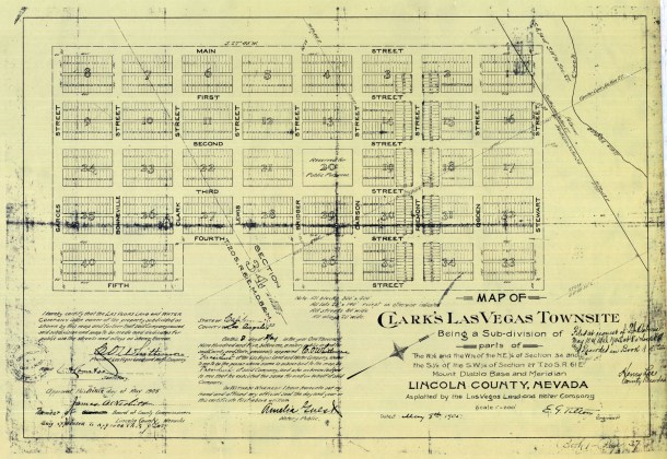 Las Vegas Map 1905