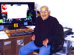 Don as a filmmaker at 92, with his big screen