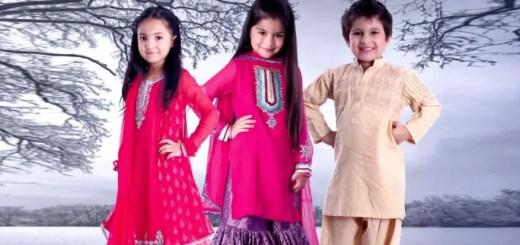 stylish pakistani kids dresses 2012