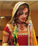 pink bridal mehndi makeup 2012