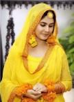 skin bridal makeup for mehndi
