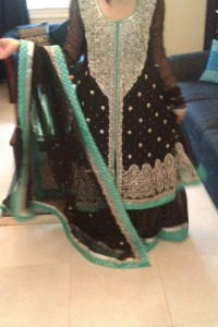 Bridal dress for walima