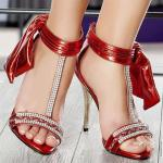 Bridal shoes red