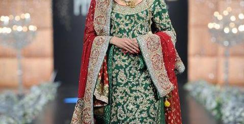 emerald green bridal lehnga 2013