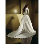 tail wedding gown
