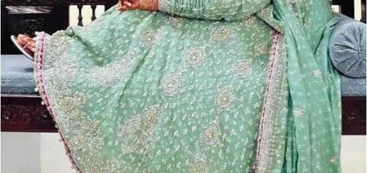 Pakistani bridal dress in maxi style