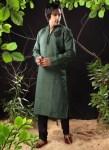Pakistani kurta designs in green color