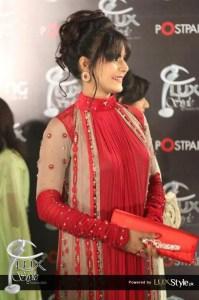 Red chiffon dresses