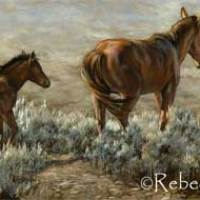 Painting New Paintings - Horses & Coyote