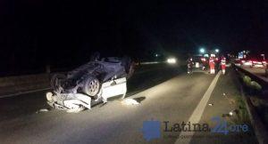 auto-ribaltata-pontina-latina-incidente