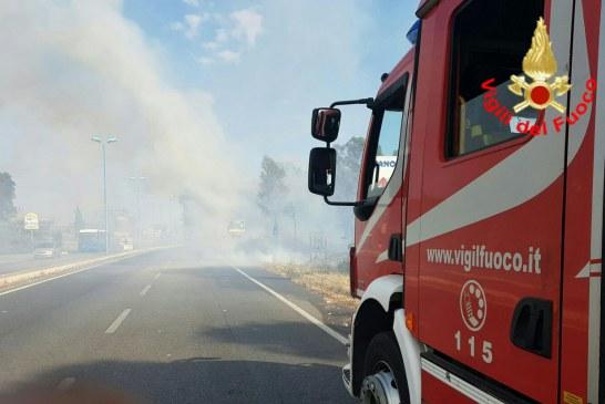 Paura in via Vespucci, le fiamme minacciano le abitazioni