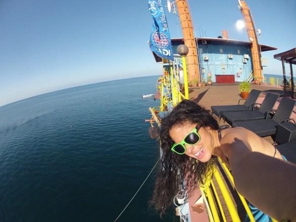 Borneo dive rig deck